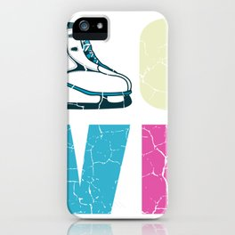 Ice Skating Love Ice Skater Figure Skater Gift iPhone Case
