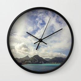 Island Escape Wall Clock