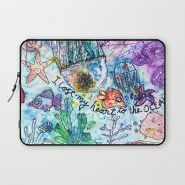 I Lost my Heart to the Ocean Laptop Sleeve