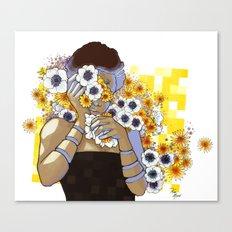 Sleep Under the Petals Canvas Print