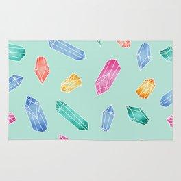 Crystals pattern - Light Green Rug