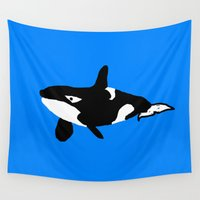 orca Wall Tapestries featuring Orca by Crayle Vanest