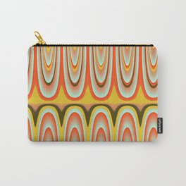 Gold, Orange, Blue Pattern Carry-All Pouch