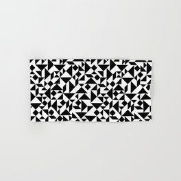 Tangram Composition in Black and White Hand & Bath Towel