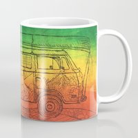 vw bus Mugs featuring VW by SerenityBusHome