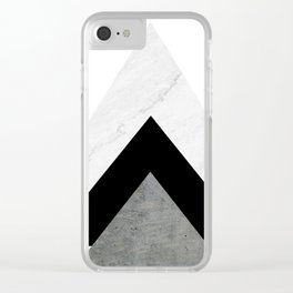 Arrows Monochrome Collage Clear iPhone Case
