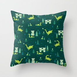 Cryptid Cuties: The Lochness Monster Throw Pillow