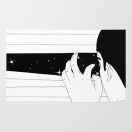Spying on the stars Rug