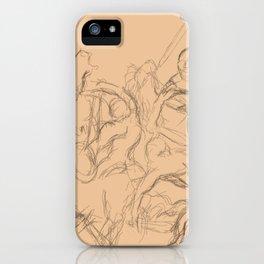battle sketch iPhone Case