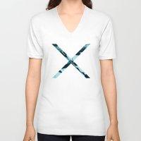 aqua V-neck T-shirts featuring Aqua by RaviusKiedn