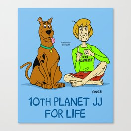 Scooby and Shaggy 10th Planet Canvas Print