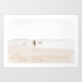 At the Beach - Surf Art Print