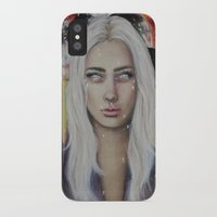 coven iPhone & iPod Cases featuring Blood on the Moon by Bella Harris