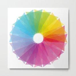Geometric rainbow Metal Print