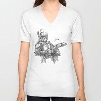 boba fett V-neck T-shirts featuring Boba Fett by Leamartes
