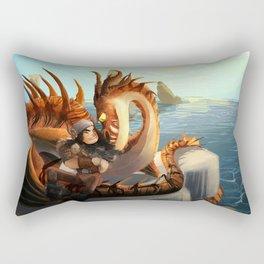 Snotloud and Hookfang Rectangular Pillow
