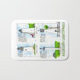 Mississippi Lighthouses Bath Mat