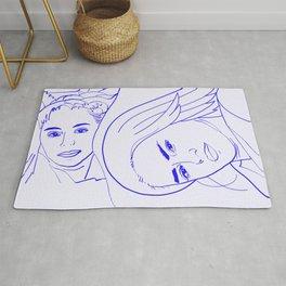 Sisters    #sketch #minimal #drawing Rug