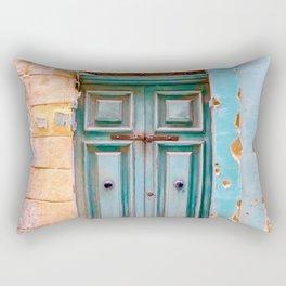 Blue Door in Antigua, Guatemala Rectangular Pillow