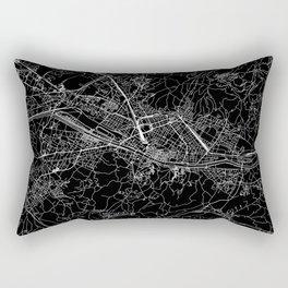 Florence Black Map Rectangular Pillow