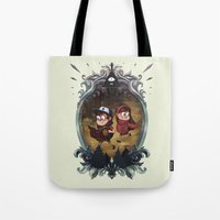 gravity falls Tote Bags featuring Gravity Falls by Vaahlkult