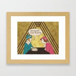 Tea and Patriarchy Framed Art Print