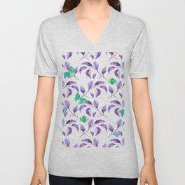 Passionately Purple Spring Time Daze - Bagaceous Unisex V-Neck