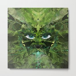 The Green Man Breathing Down My Neck Metal Print