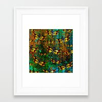 dragonfly Framed Art Prints featuring Dragonfly  by Saundra Myles