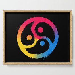 BDSM Triskelion Pansexual Pride Serving Tray