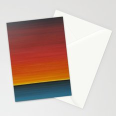 Sea Sunset Meditation Beach Painting Stationery Cards