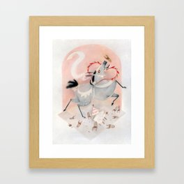 What to expect when you get married on a giant mule Framed Art Print