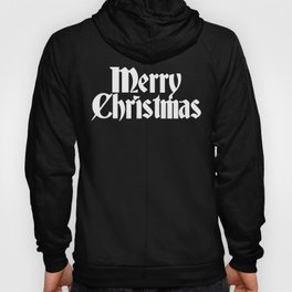 Merry Christmas White Christmas Version Hoody