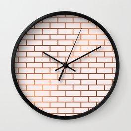 Copper Subway Tiles Wall Clock
