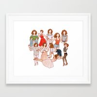 dirty dancing Framed Art Prints featuring Dirty Dancing - New version by Naineuh
