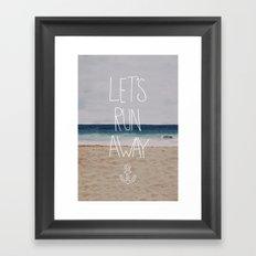 Let's Run Away | Sandy Beach, Hawaii Framed Art Print