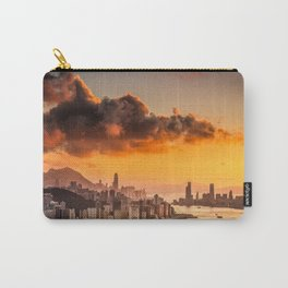 sunset over hong kong urban city skyline with victoria harbor Carry-All Pouch