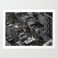 Yellow Cabs | NYC Art Print