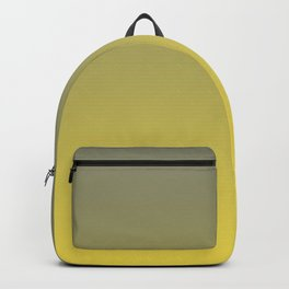 Green and Yellow Gradient Blend Pantone 2021 Color of the Year Illuminating 13-0647  Backpack
