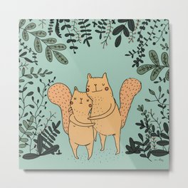 Forest Love Metal Print
