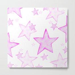 PINK STARS Metal Print