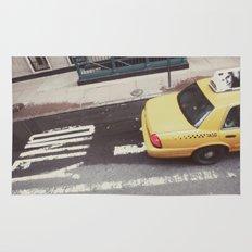 one way taxi:: nyc Rug