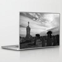 portland Laptop & iPad Skins featuring Portland Graveyard by Wealie