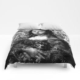 MONA LISA (BLACK & WHITE VERSION) Comforters