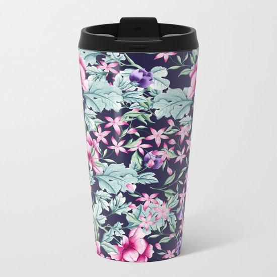 Floral Pattern 1 Metal Travel Mug