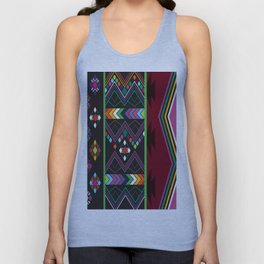Aztec Central America Inspired Modern Geometric Design Unisex Tank Top