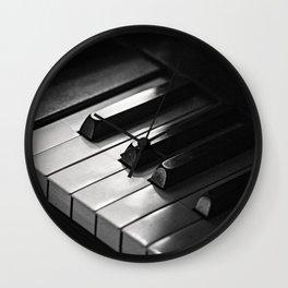 vintage piano keys Wall Clock