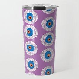 Evil Eye Charm - Radiant Orchid  Travel Mug