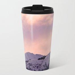 Kenai Mts Bathed in Serenity Rose Travel Mug