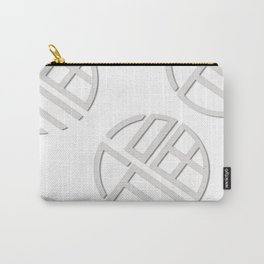 simple black and white soccer symbol (white ver)  Carry-All Pouch